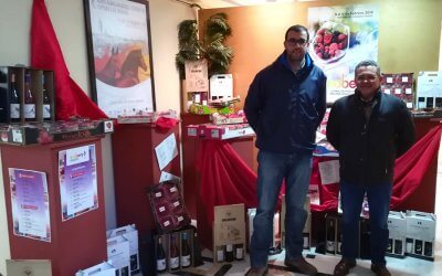 Bodegas del Socorro exhibe su gama de vinos y caldos en la X Feria Agroganadera y Comercial Comarca de Doñana y II Feria Enoberry