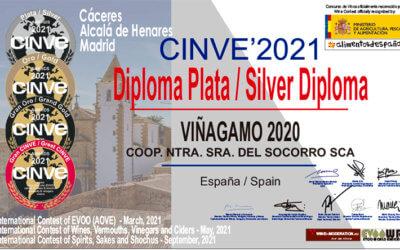 Viñagamo Blanco Joven 2020 se alza con la distinción Diploma de Plata en la categoría Vinos Tranquilos de los prestigiosos premios CINVE