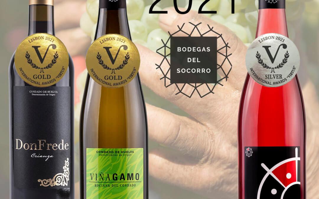 Bodegas del Socorro conquista dos medallas de oro y una de plata en el prestigioso concurso  International Awards Virtus de Lisboa